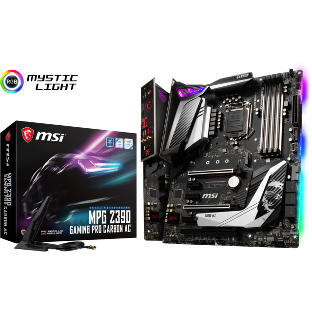 Msi - Intel Z390 GAMING PRO CARBON AC - ATX - Composants