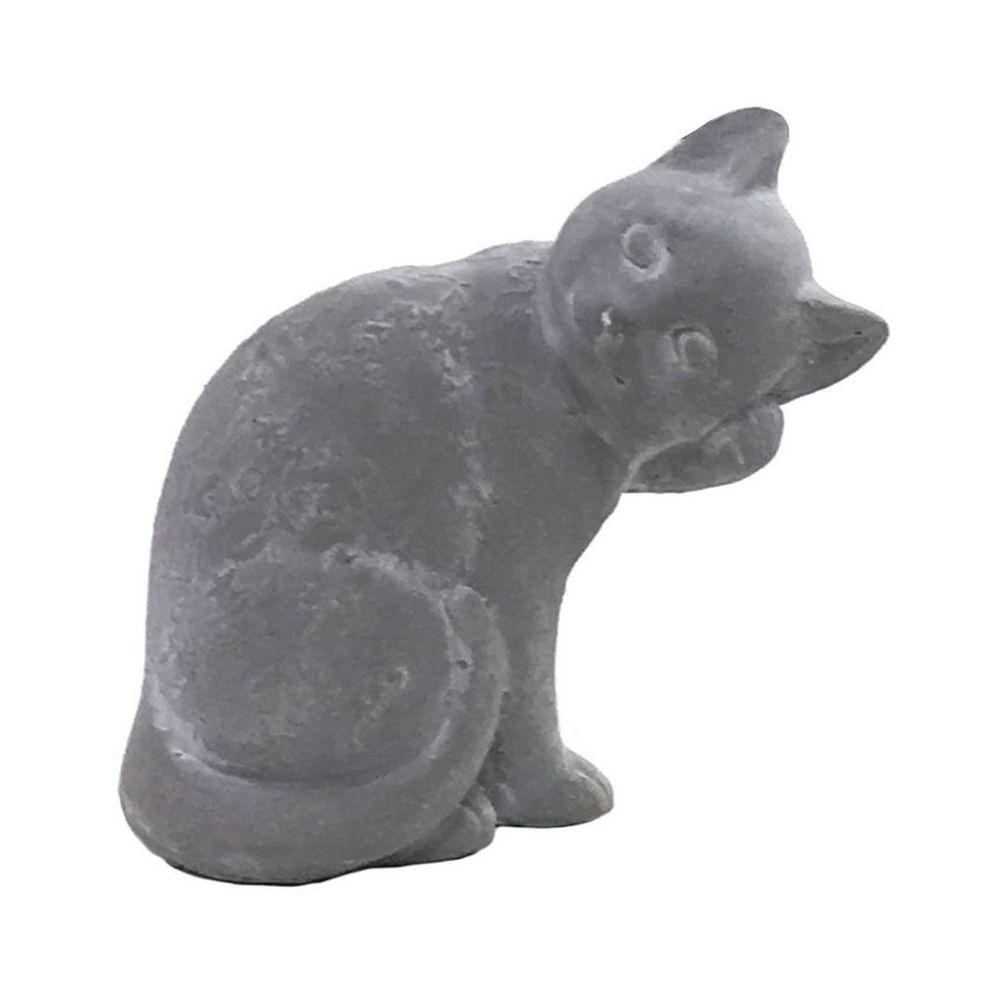 Chemin De Campagne Statue Sculpture Chat en Ciment 20 cm