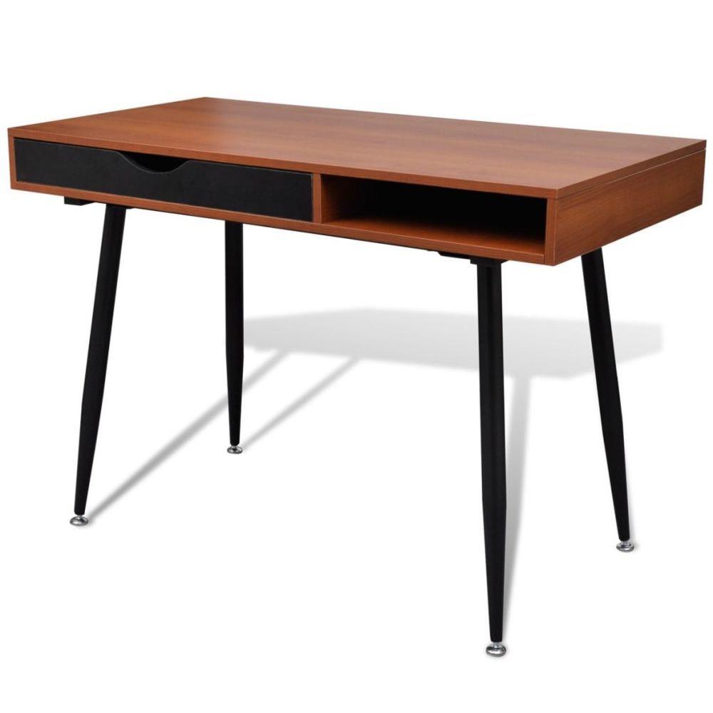 Vidaxl Table d'ordinateur Brun | Brun