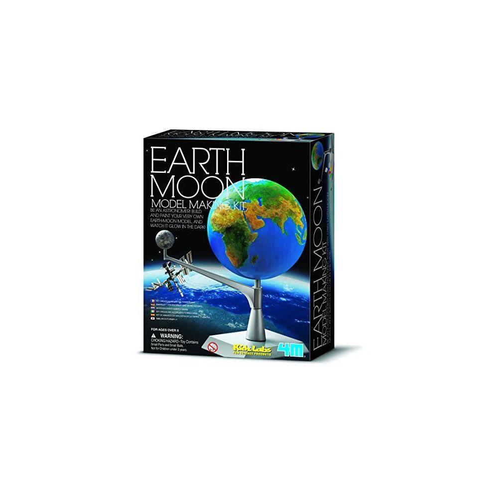 4M 4M Kidzlabs Earth & Moon Model Kit - STEM Toys Science Lab DIY Orbit Planetarium Educational Gift