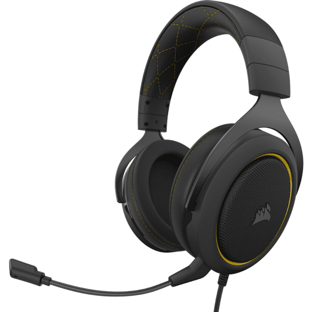 Corsair - HS60 PRO STEREO jaune - Filaire - Occasions Clavier, Souris, Casque, Siège Gamer