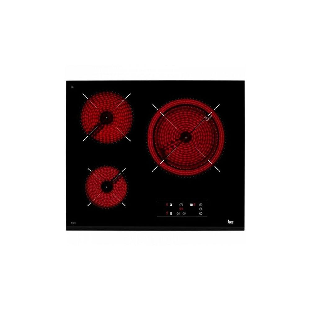 Teka Plaques vitro-céramiques Teka 219213 5400W 60 cm Noir