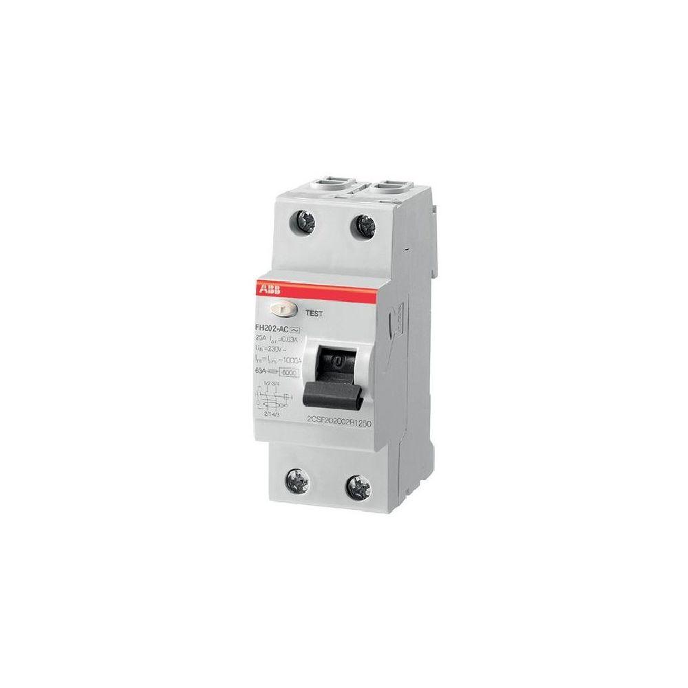 Abb Interrupteur différentiel 63A ABB F202 A-63A/30mA