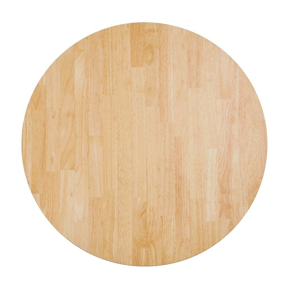 Alterego Plateau de table 'MASSIVO' rond en bois massif - Ø 70 cm