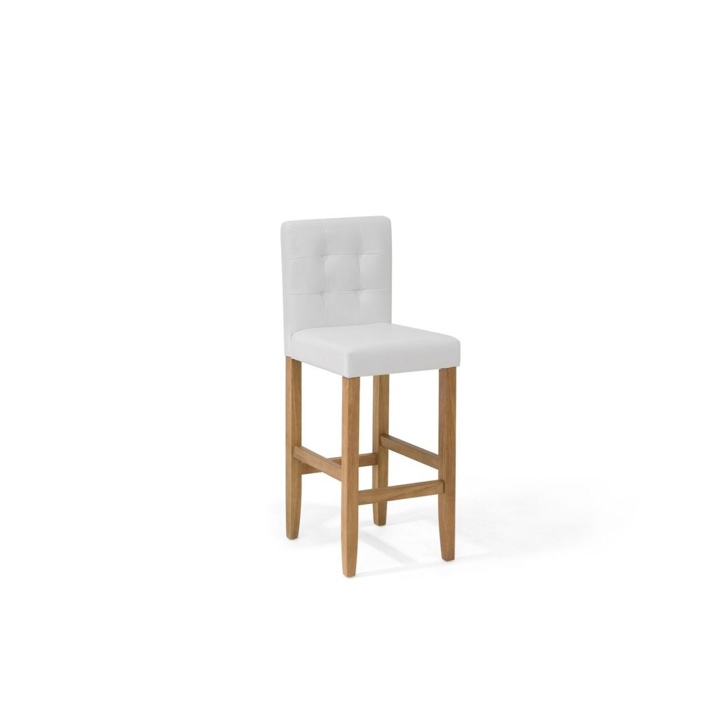 Beliani Beliani Chaise de bar en simili-cuir blanc crème MADISON - blanc