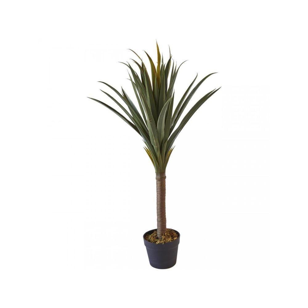 Bobochic BOBOCHIC Plante artificielle OLLA 62 feuilles et pot noir