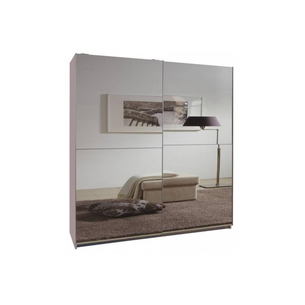Inside 75 Dressing CLAPTON 135 cm portes coulissantes blanc / miroirs