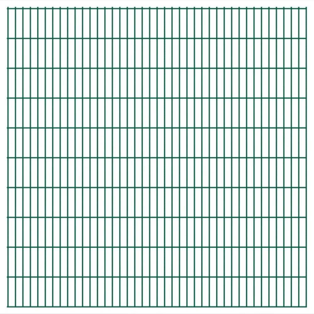 Uco UCO Panneaux de clôture 2 D de jardin 2008 x 2030 mm 10 m Vert