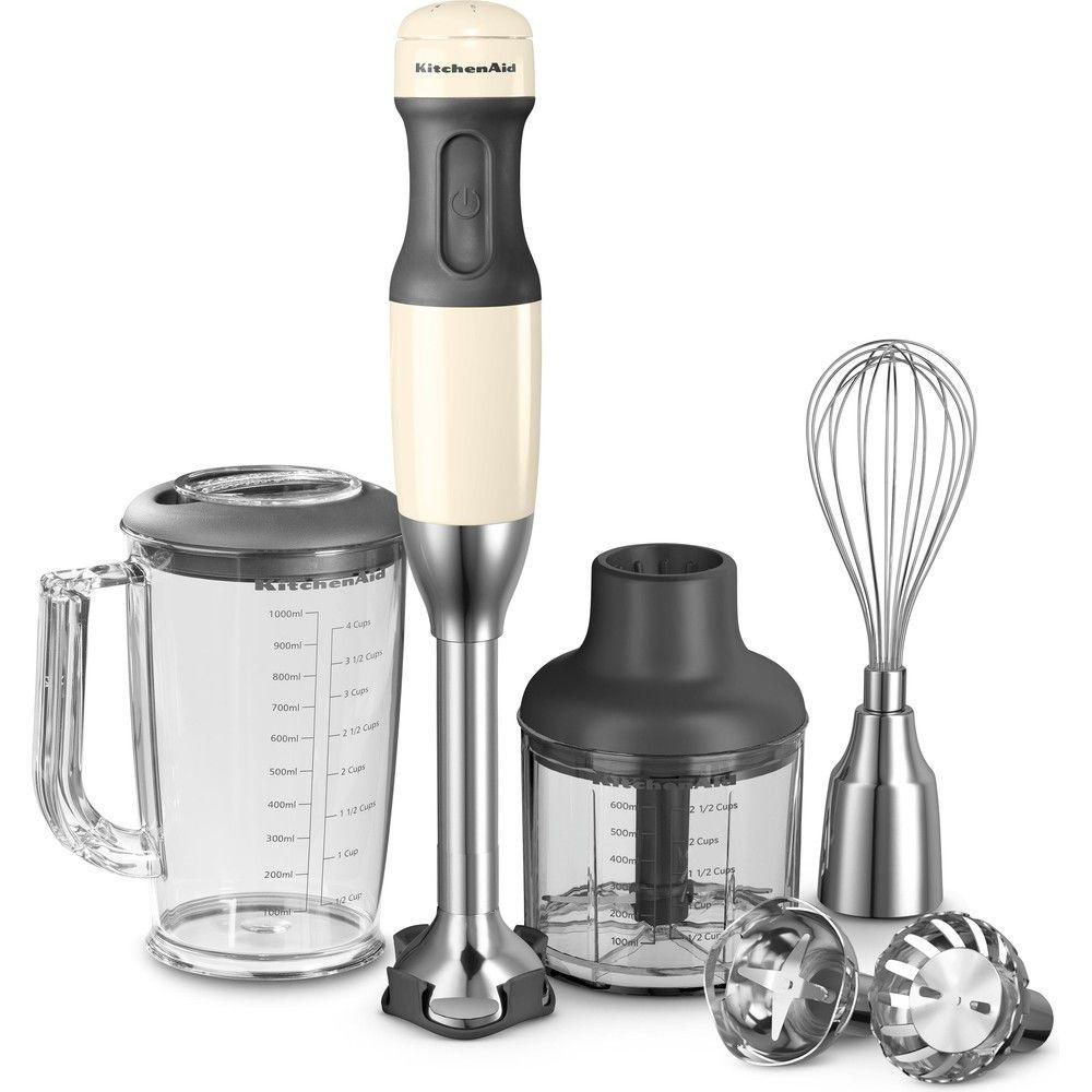 Kitchenaid mixeur plongeant avec 5 vitesses 180W crème argent