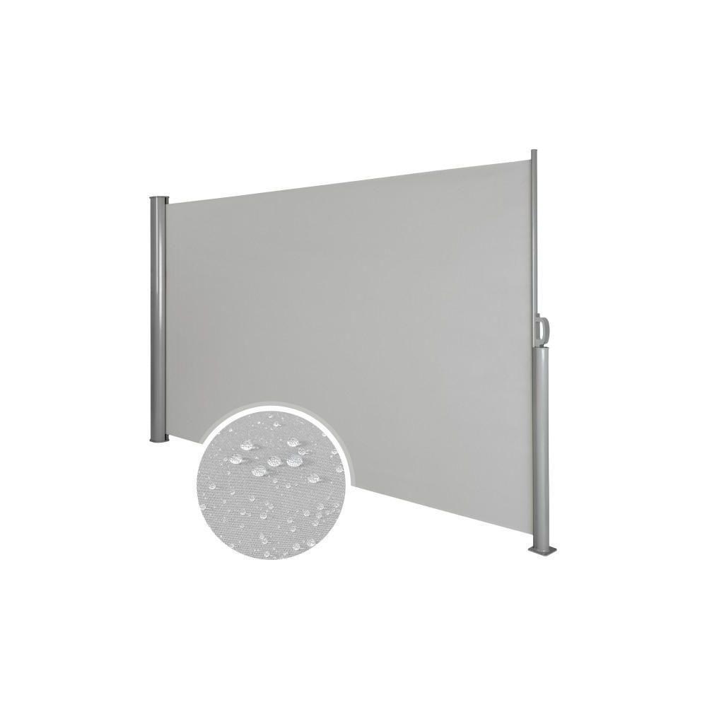 Helloshop26 Auvent store latéral brise-vue abri soleil aluminium rétractable 180 x 300 cm gris 2208016