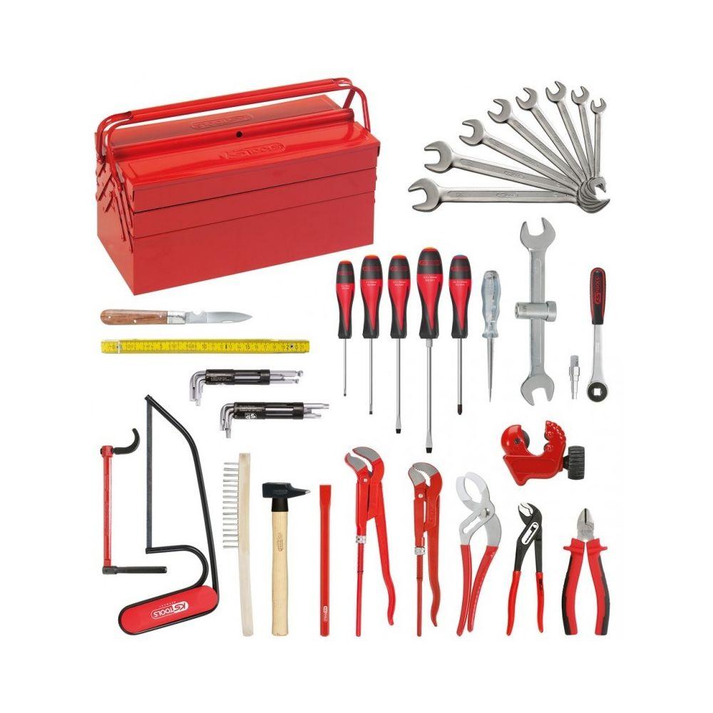 Ks Tools KS TOOLS 116.0147 Composition d'outils Sanitaire-Chauffage en caisse métallique - 47 pièces