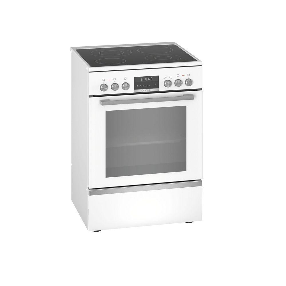 Bosch bosch - cuisinière vitrocéramique 63l 4 feux blanc - hks79r220