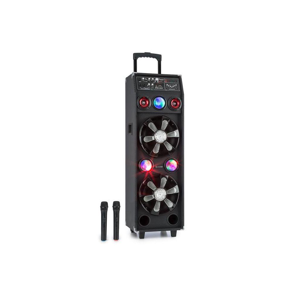 Auna auna DisGo Box 2100 système de sono 100 W RMS BT lecteur SD LED USB batterie noir Auna