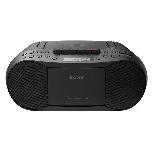 Sony - Radio CD/K7/MP3 Boombox - Noir - Chaînes Hifi