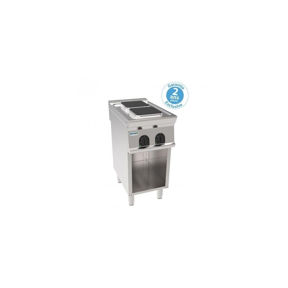 Materiel Chr Pro Fourneau sur Meuble électrique sur placard ouvert - 2 plaques carrées 5,2 kW - gamme 700 - Tecnoinox -