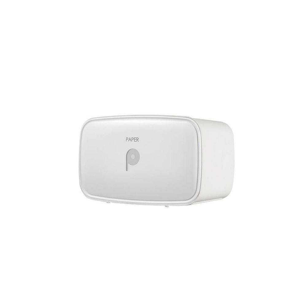 Wewoo Porte-papier hygiénique multifonctions imperméable avec porte-tablette de rangement blanc