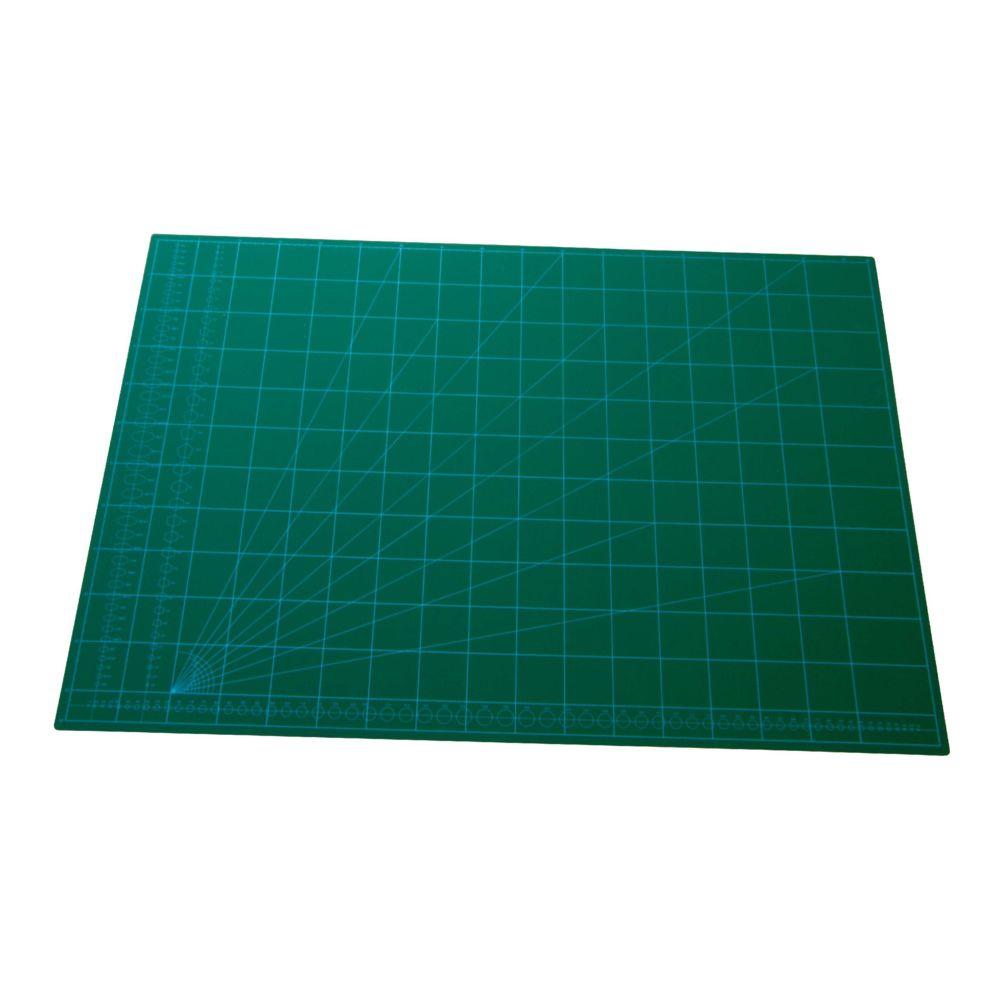 Vhbw vhbw tapis de découpe, planche de découpe A1, vert, avec quadrillage pour coudre, bricoler, faire du patchwork