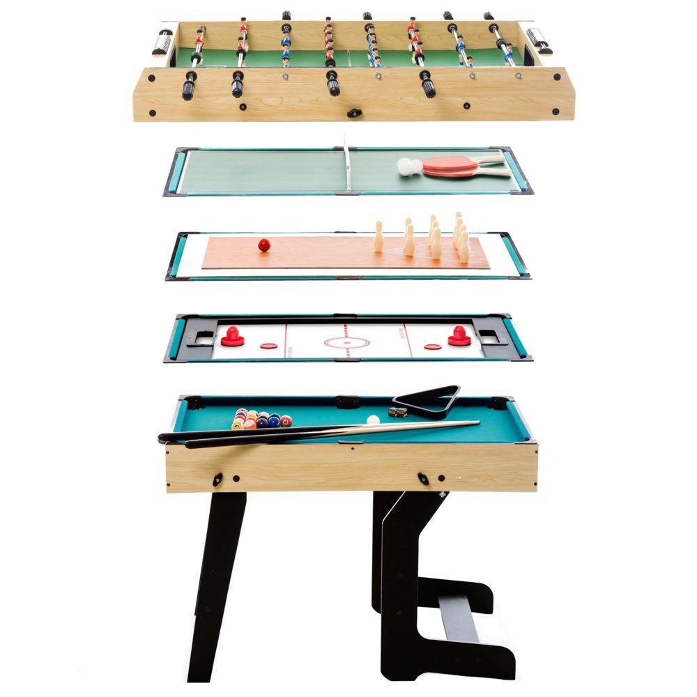 Rendez Vous Deco Table multi-jeux pliable 16 en 1