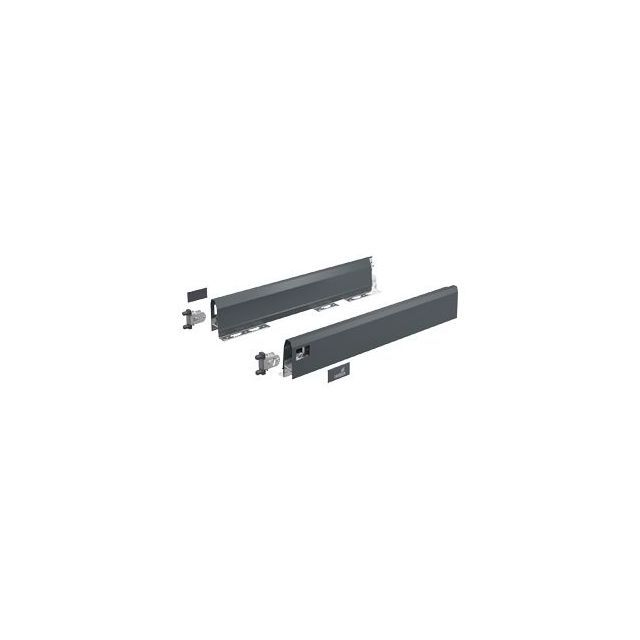 Hettich France - Set HETTICH ArciTech pour tiroir H.126 mm - L.500 mm - Anthracite - 9150497 - Hettich France