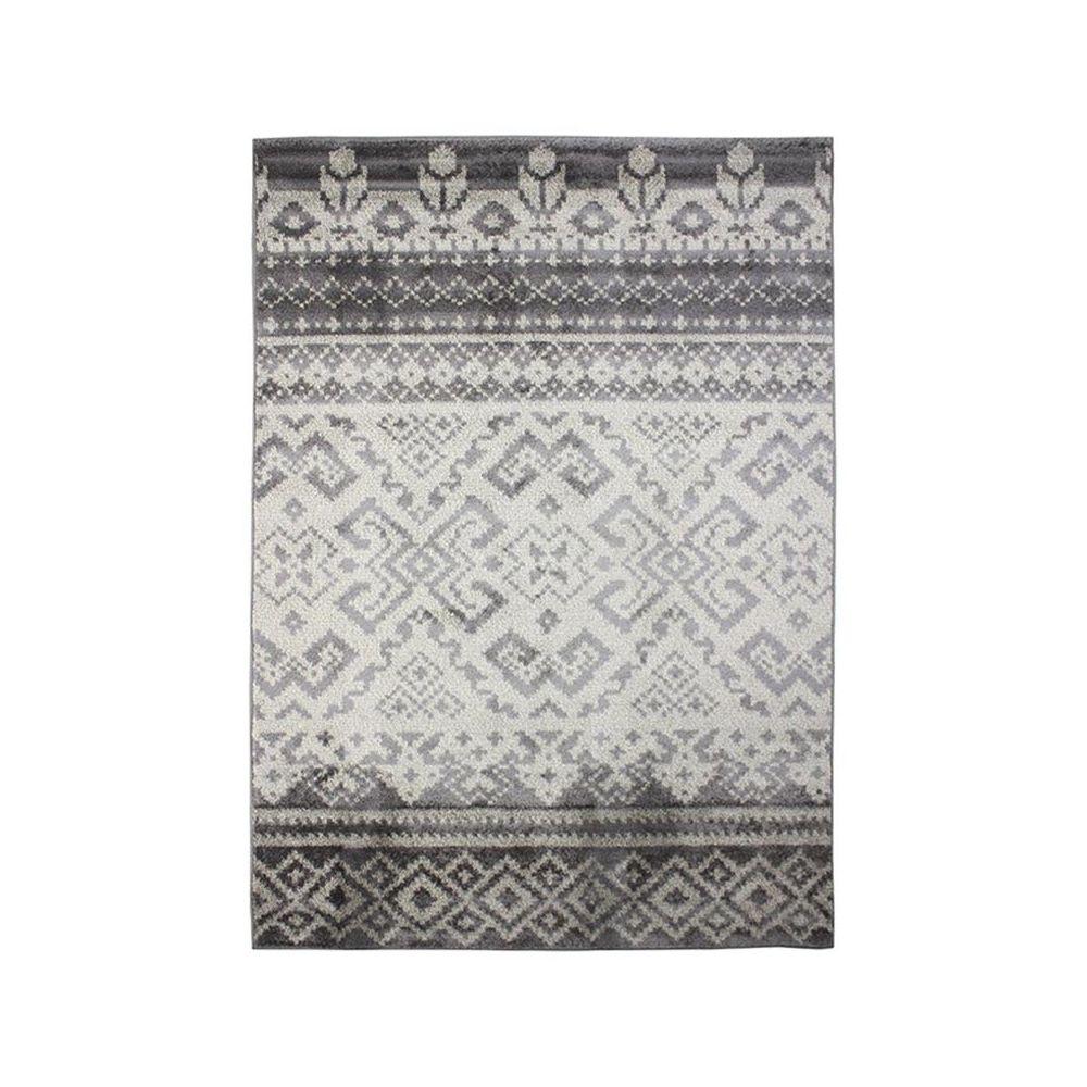 Mon Beau Tapis ARMONI - Tapis à poils courts à motifs losanges gris 120x170