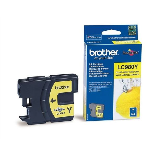Brother - BROTHER - LC980Y - Cartouche d'encre Jaune Brother   - Brother
