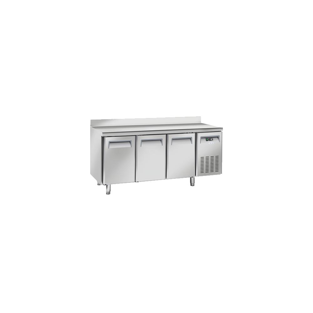 Materiel Chr Pro Table Réfrigérée Négative 3 Portes avec Dosseret - Profondeur 600 - Cool Head - R290