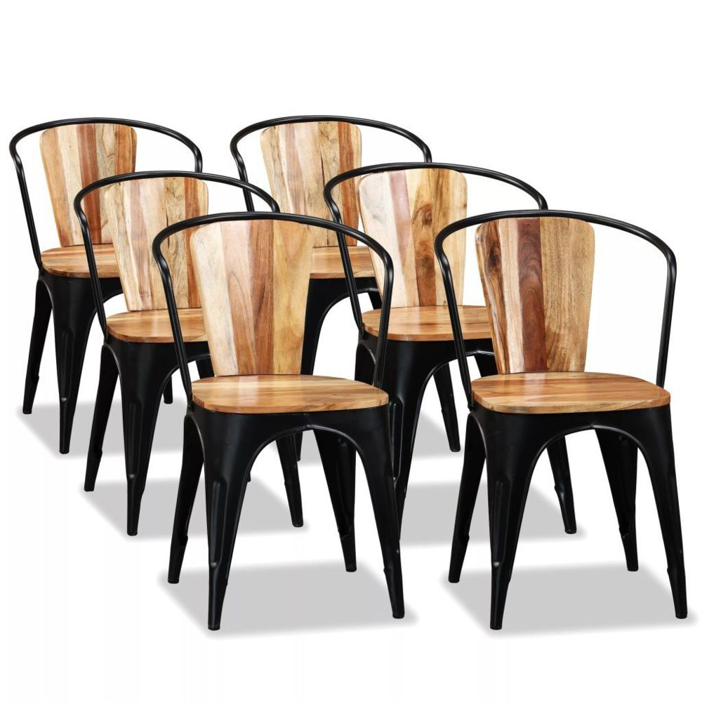 Vidaxl vidaXL Chaise de salle à manger 6 pcs Bois d'acacia massif