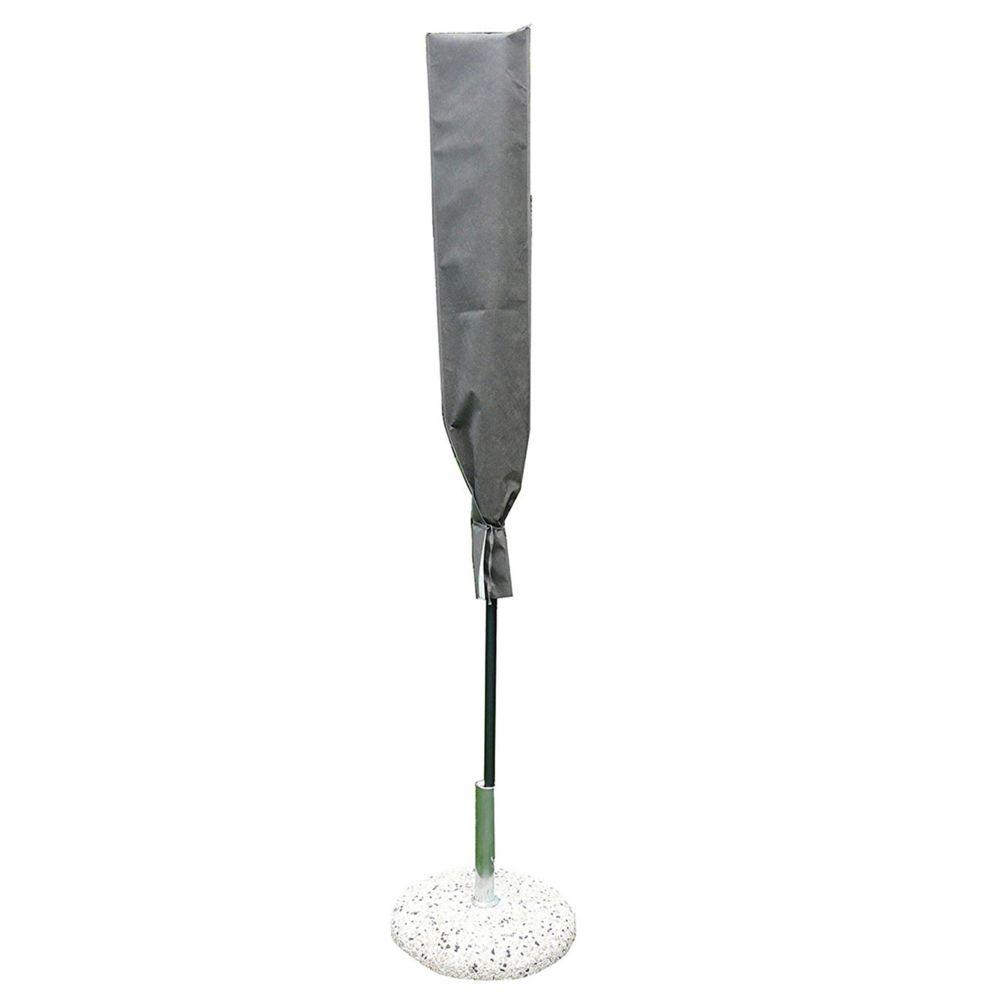 Pegane Housse de protection pour parasol coloris taupe - Dim : 140x30 cm