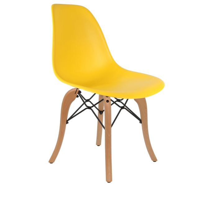 Chaise Privee -Chaise DSW (Couleur: Jaune) Chaise Privee  - Marchand Chaise privee
