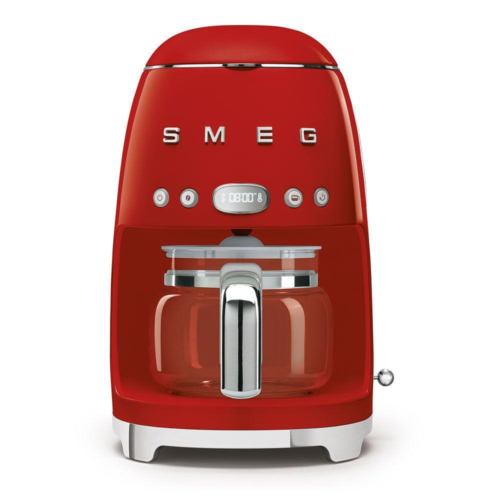 Smeg smeg - cafetière filtre programmable 10 tasses 1050w rouge - dcf02rdeu