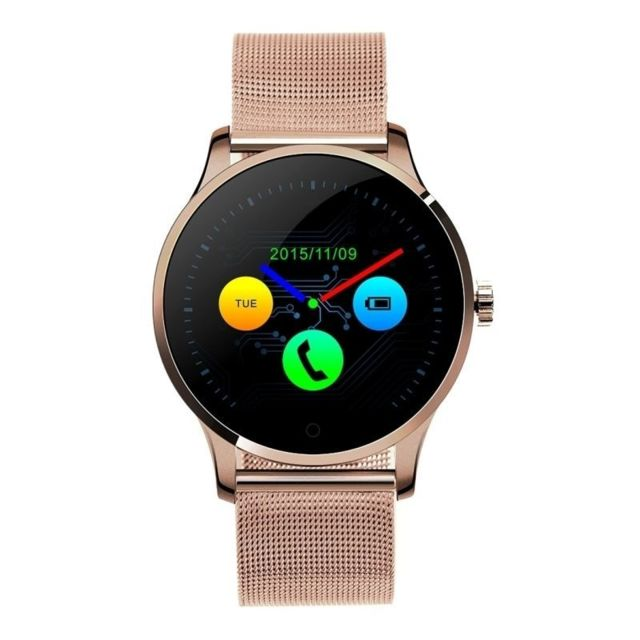 Yonis - Smartwatch Android Et Iphone iOs Montre Connectée 1,22' Cardio Podomètre Or Rose - YONIS - Yonis