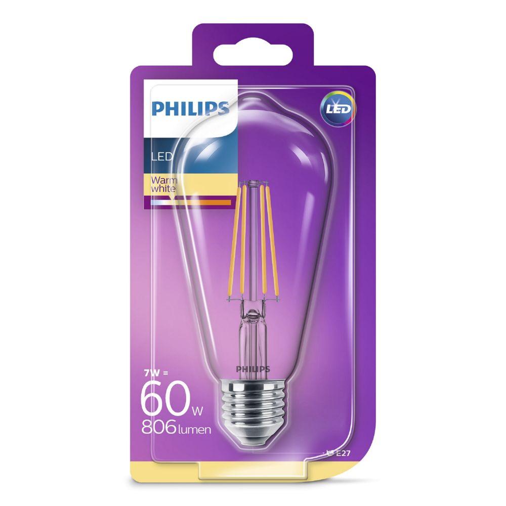 Philips Ampoule LED standard 7W (60W) E27 - blanc chaud