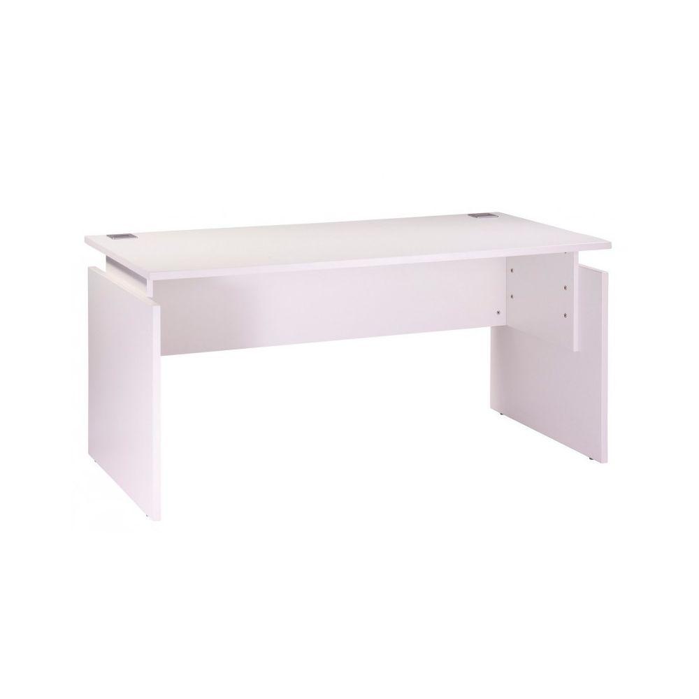 Simmob Bureau 160 x 80 cm Blanc Réglable en Hauteur INEO