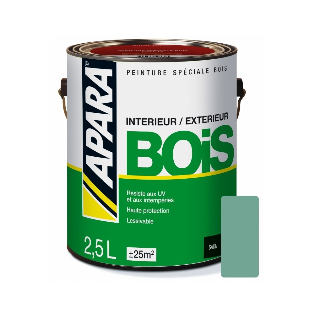 Apara Peinture BOIS SATIN-2.5 litres-Vert provence