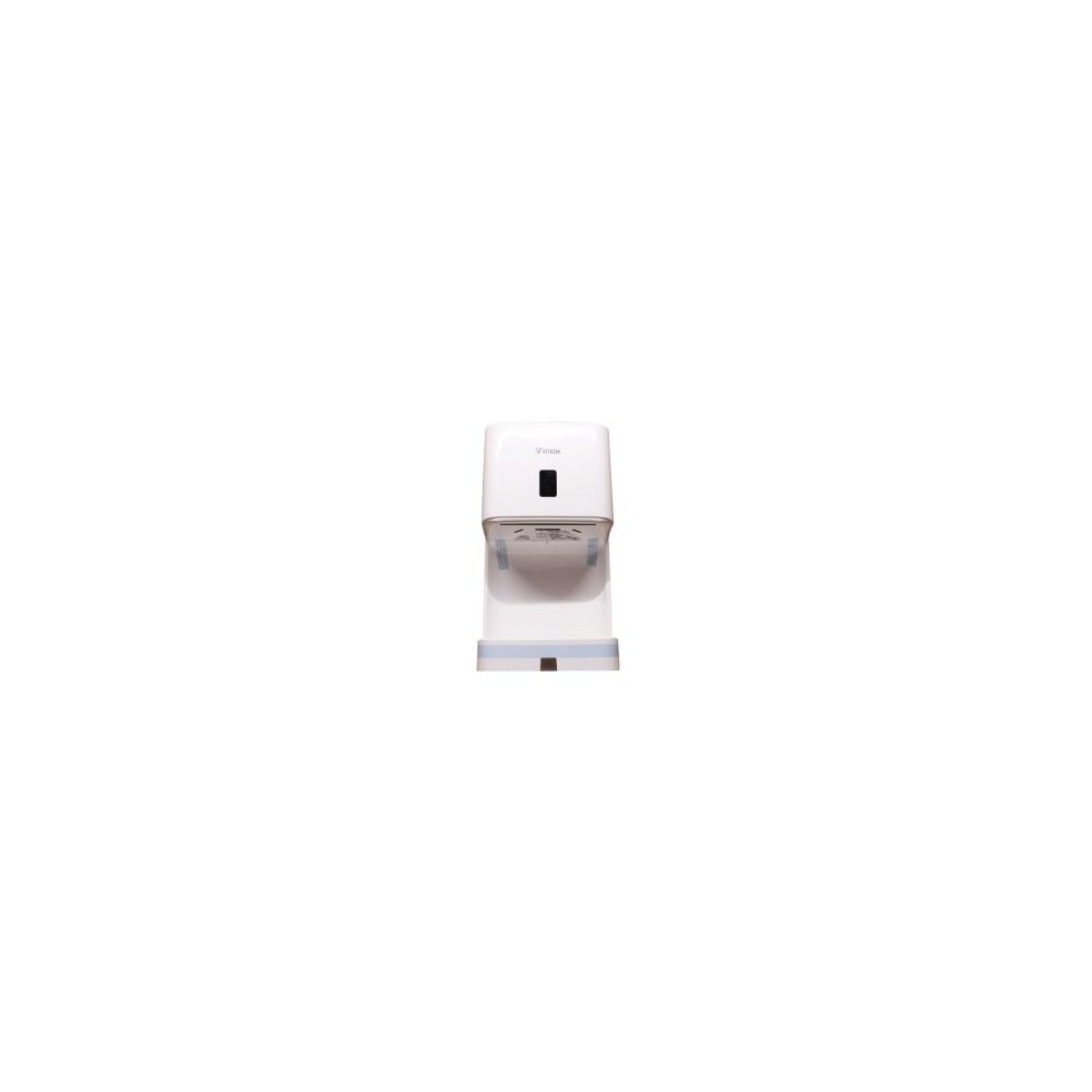 Desineo Sèche-mains avec bac récupérateur de goutte blanc en ABS VITECH