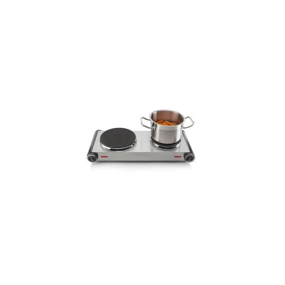Tristar plaque chauffante électrique de diamètre de 15,5 et 18,5 cm gris