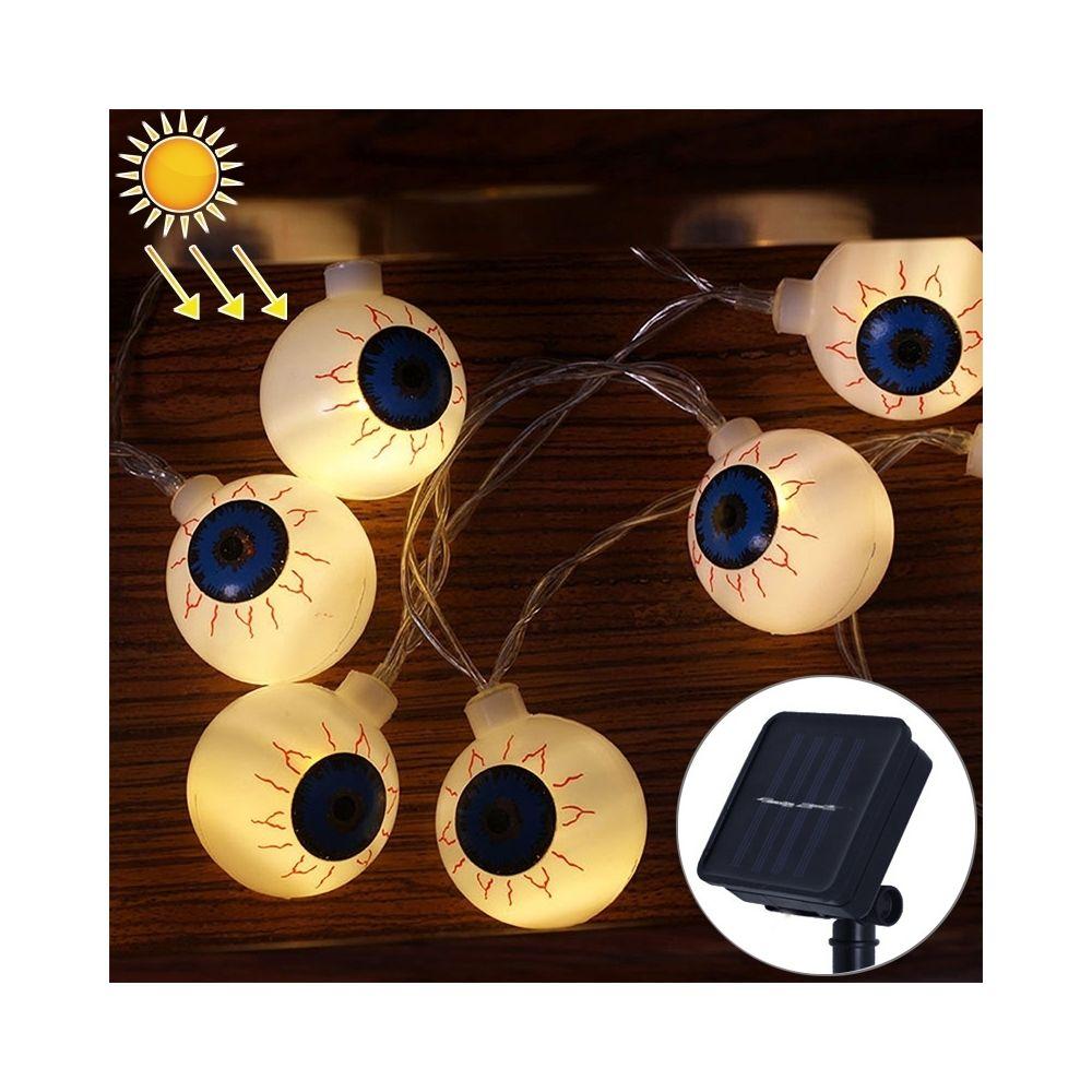 Wewoo 2,5 m Ghost Eyes Design Lumière blanche chaude Série Halloween à énergie solaire, guirlande LED, 20 LED Accessoires de f