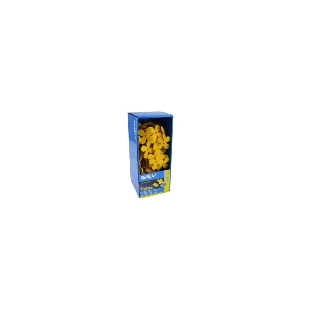 Coolminiprix Guirlande lumineuse fleurs jaunes 50 LEDs 10m - Qualité COOLMINIPRIX