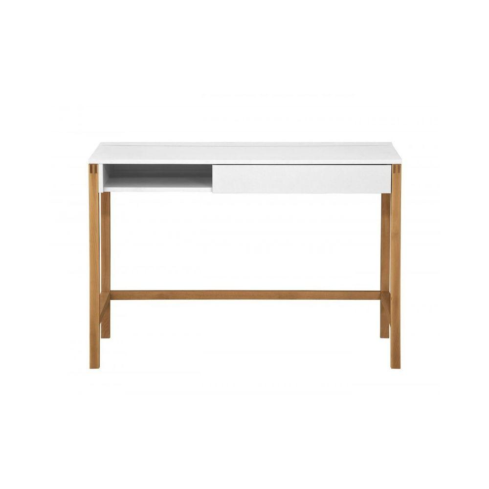 Paris Prix Bureau Design Northgate 112cm Chêne & Blanc