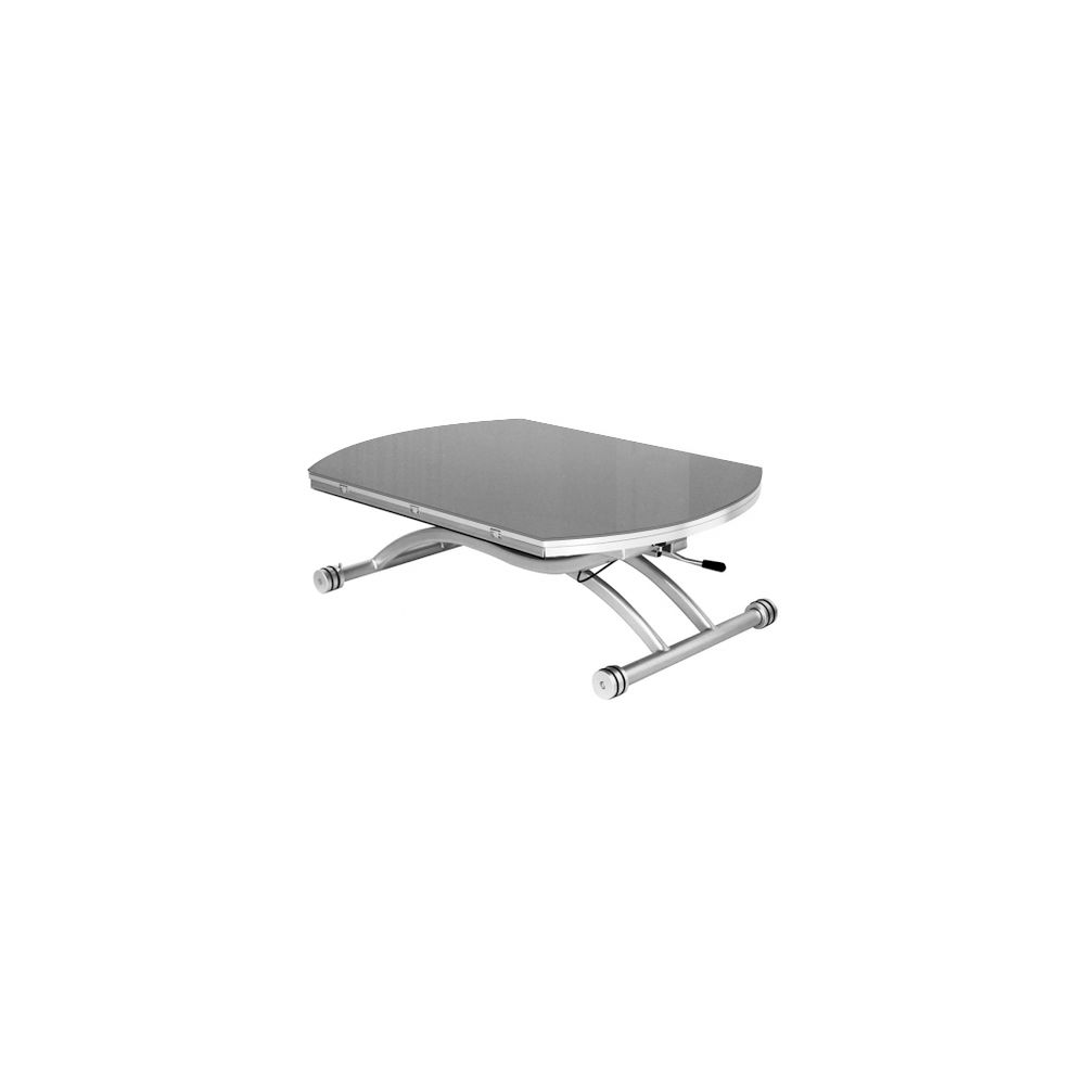Giovanni Table basse relevable Colombia verre gris