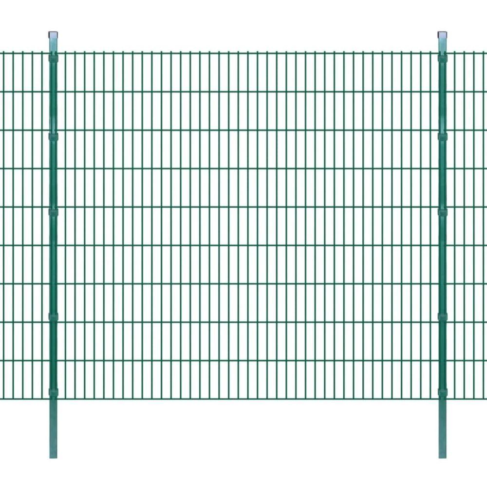 Uco UCO Panneaux et poteaux de clôture 2D pour jardin 2008x1830 mm 10 m