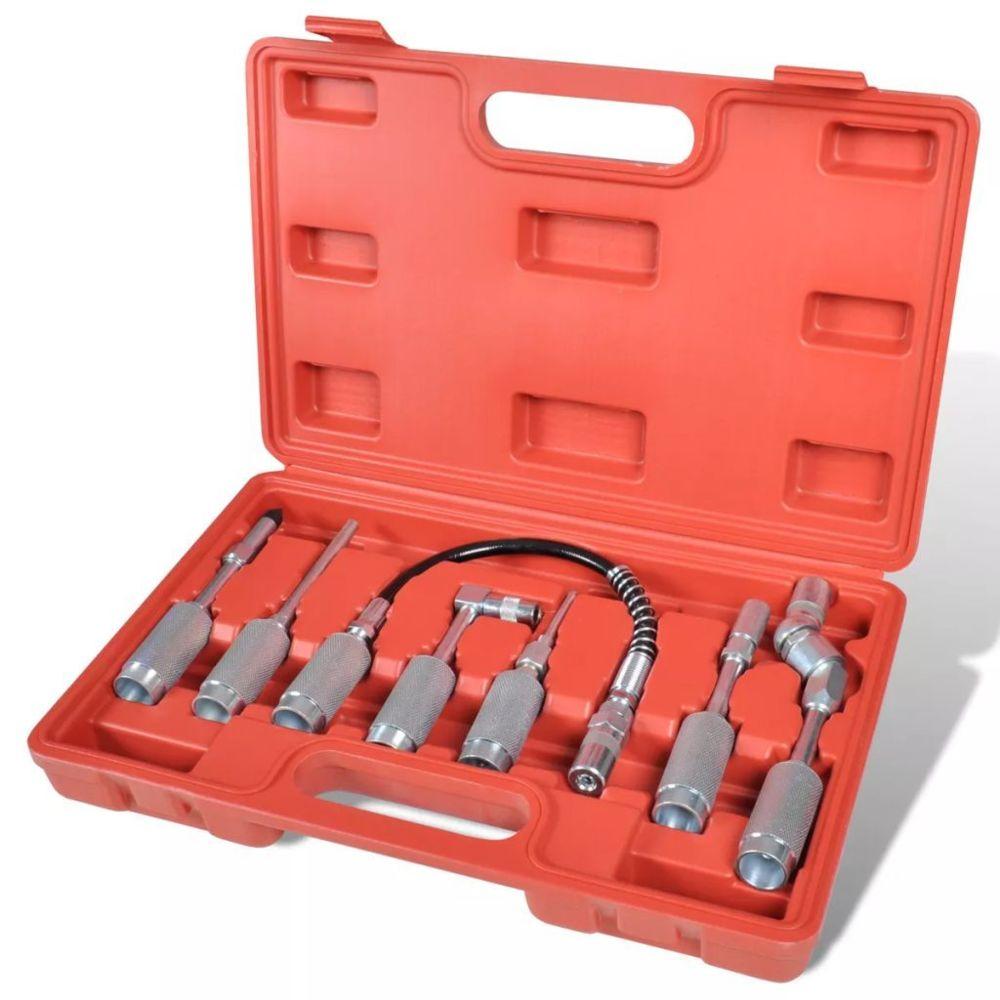 Vidaxl Kit d'adapteur pour pistolet à graisse 7 pièces |