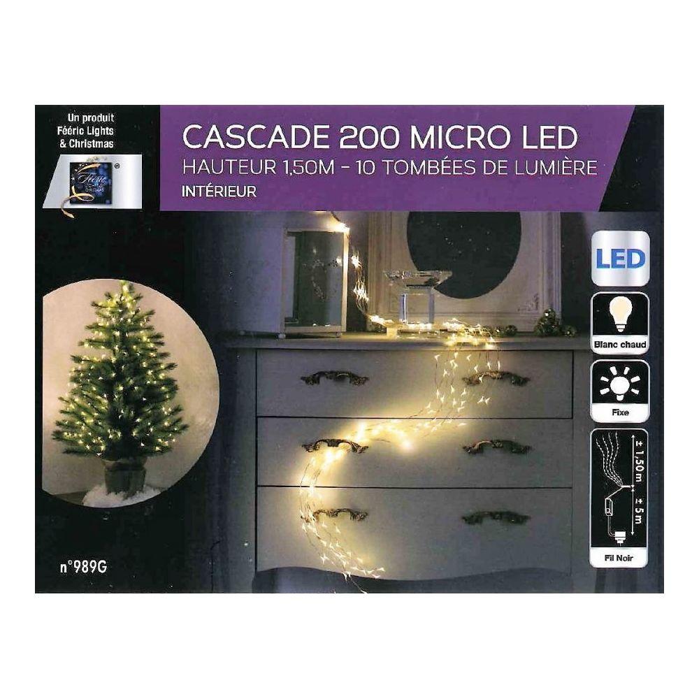 JJA Guirlande copper cascade 200 LED blanc chaud
