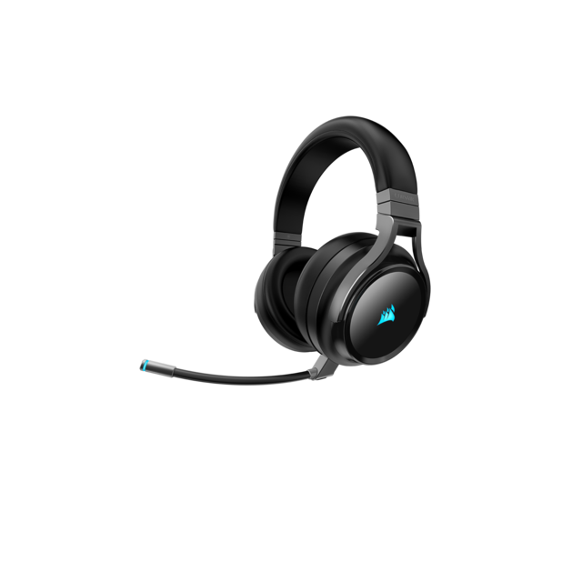 Corsair - VIRTUOSO RGB WIRELESS carbone - Sans fil Corsair   - Micro casque reconditionné