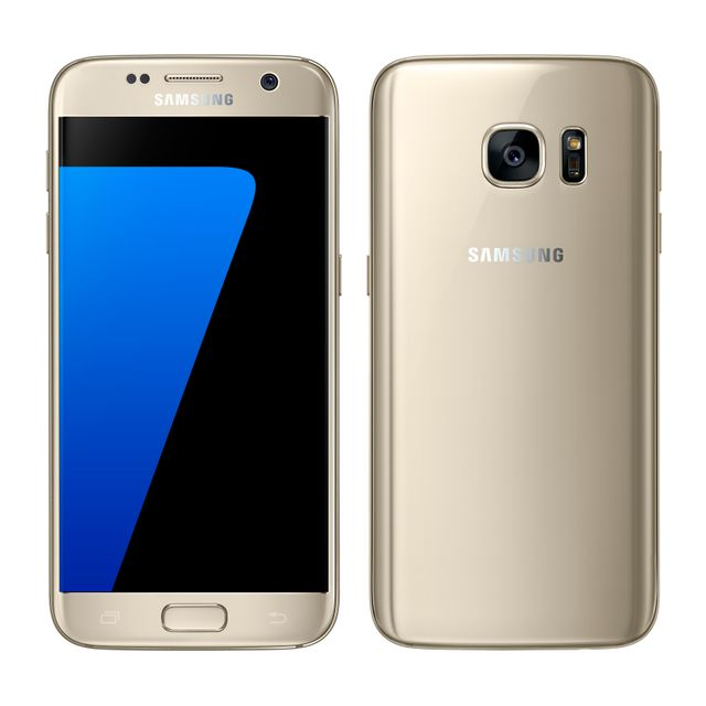 Samsung - Galaxy S7 - 32 Go - Or- Reconditionné - Smartphone 5 pouces