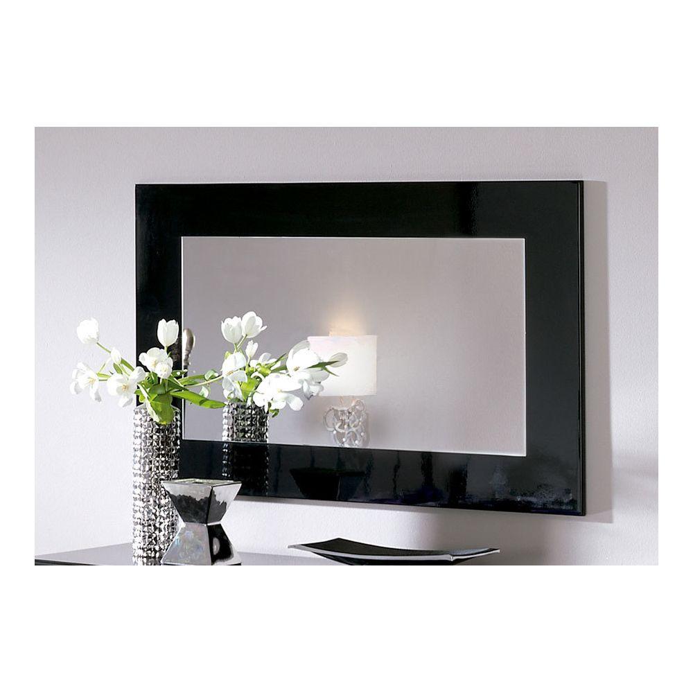 Kasalinea Miroir mural blanc ou noir laqué design SADIO