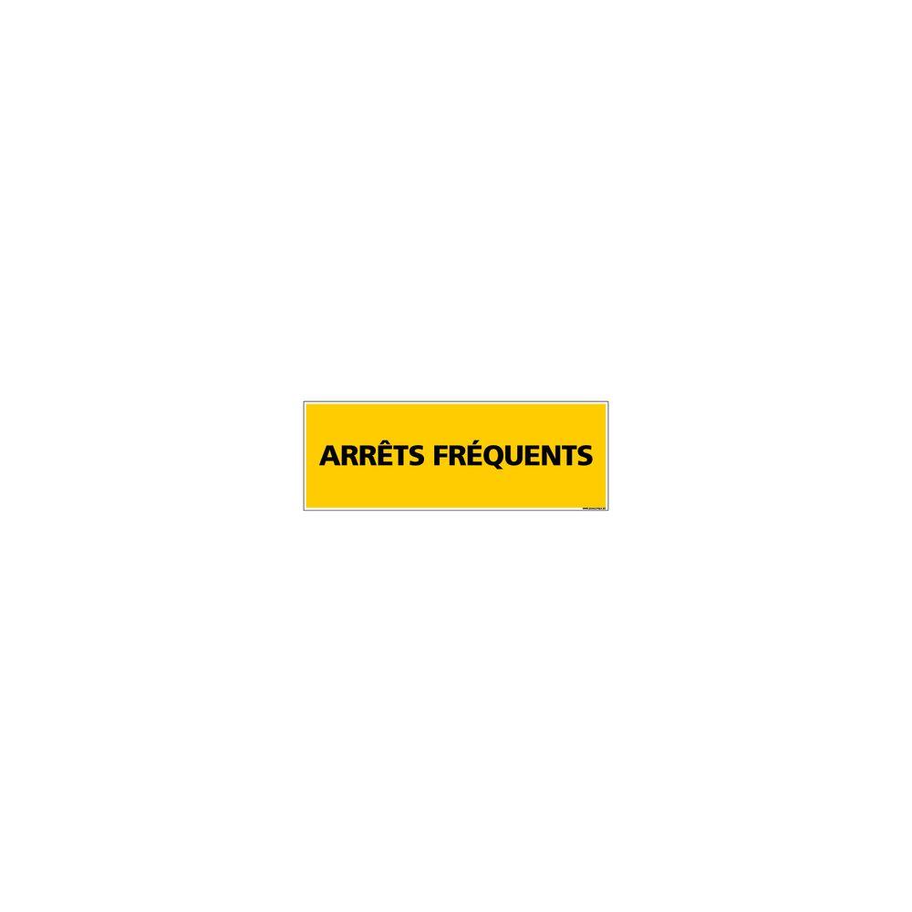 Signaletique Biz Adhésif Magnétique - Arrêts Fréquents - Dimensions 1000x300 mm - Jaune - Protection Anti-UV