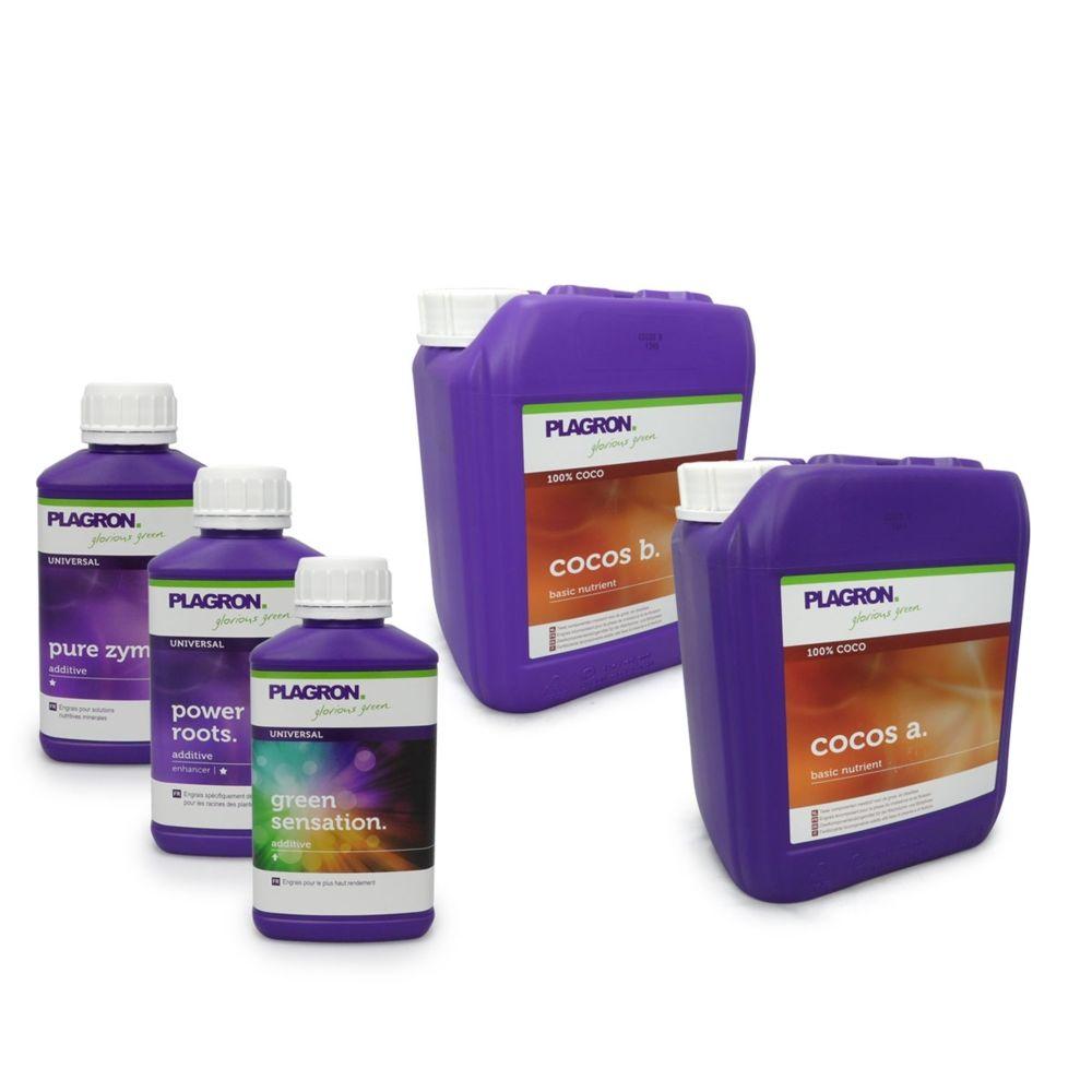 Plagron Pack engrais Coco PLAGRON 5 litres + stimulants