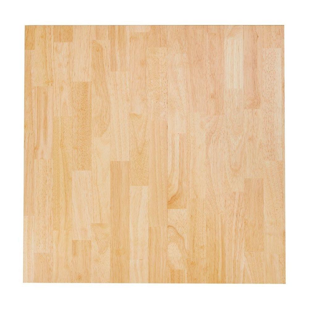 Alterego Plateau de table 'MASSIVO' carré en bois massif - 70x70 cm