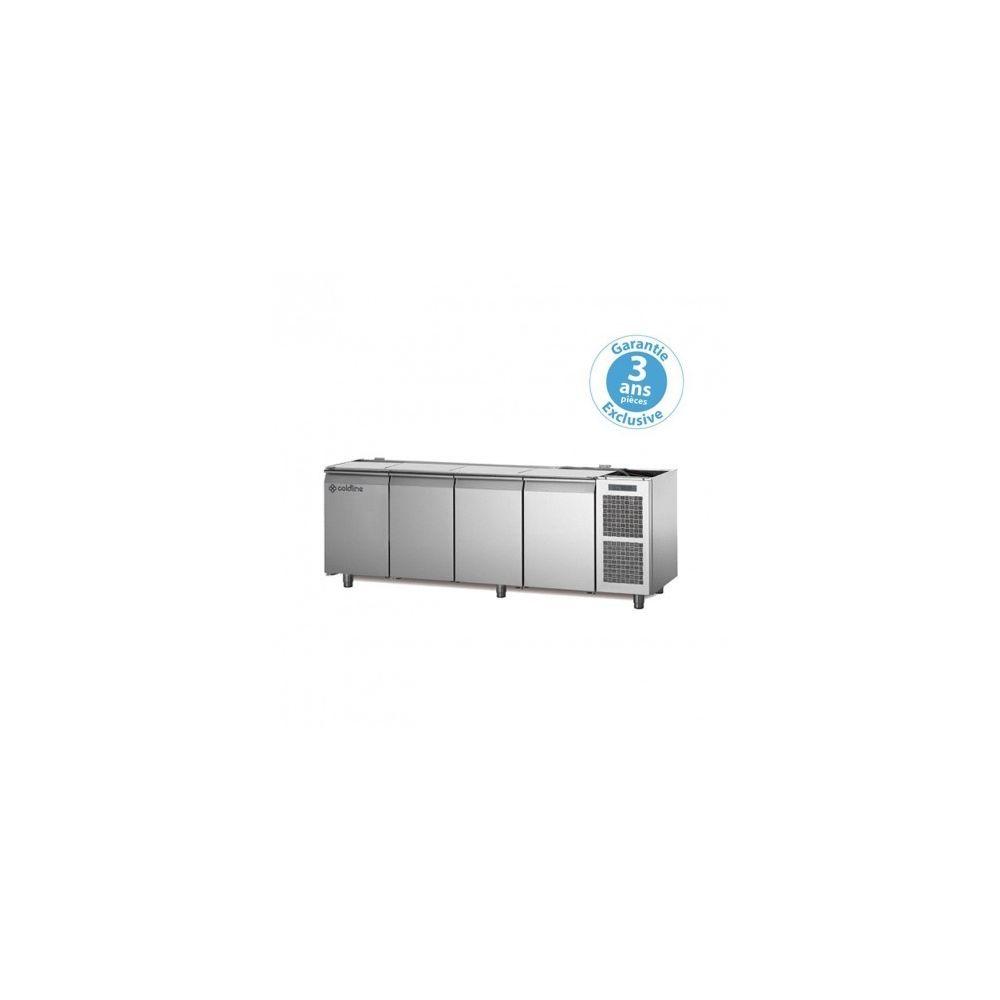 Materiel Chr Pro Table réfrigérée négative - groupe logé - 4 portes - 560 litres - profondeur 800 - 600 x 400 - sans dessus -